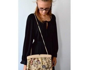 Vintage Clutch, Vintage Handbag,  Morris Moskowitz, Tapestry Clutch, Vintage Tapestry Clutch, Tapestry Handbag, 1960s Clutch
