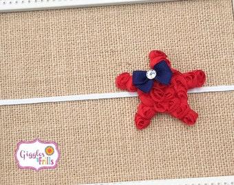 4th of July Headband, Star Headband, Red White and Blue Headband, July 4th Headband, Baby Headband, Patriotic Headband, Toddler Headband