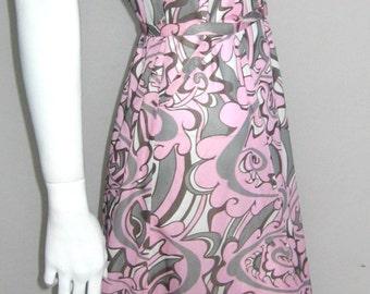 RESERVED 70s vtg slinky graphic dress