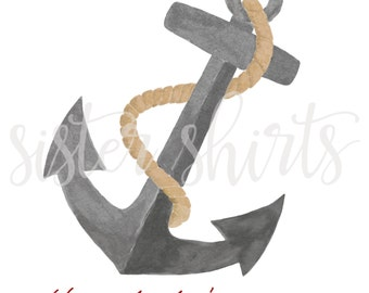 Watercolor Anchor Personalized Children's Tee