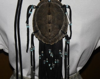 Map turtle shell medicine bag pouch mountain man native american style