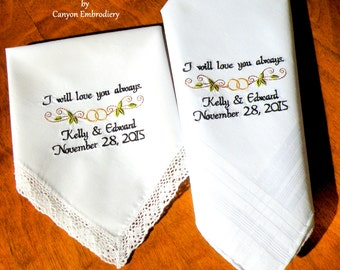 Bride and Groom Gifts - I will love you always - Wedding Date Personalized Gift, Gift for Fiance Gift for Bride, Weddings