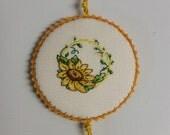 Sunflower Flower Pinkeep Pin Keep Pincushion Sewing Accessory