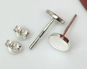 Sub zero stud earrings, men's stud earrings, gifts for him, men's earrings, simple silver stud earrings, nail it down, 420 7SW