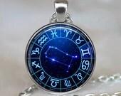 Gemini Star Wheel Zodiac necklace, Gemini necklace constellation necklace astrology Gemini pendant Zodiac jewelry keychain