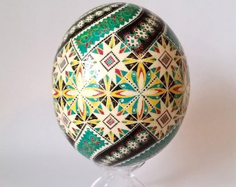 in stock 2 days USA delivery egg Ukrainian Pysanka hand painted eggs ~ creative eggs Christmas gifts ~ traditional egg