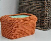 Orange Baby Wipes Box Cover Modern Nursery Decoration Home Decor Custom Colors