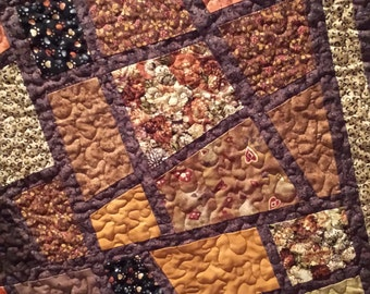 Brown ~ Earth Tones, Mosaic Tiles Quilt