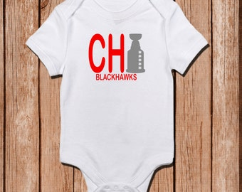 Blackhawks Onesie, Chicago Blackhawks, Hawks fan, Customizable Colors Bringing home baby.Coming home outfit, Baby shower gift