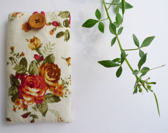 Phone Sleeve, iPhone SE Case, iPhone Cover, iPhone 5S Sleeve - Beautiful Vintage Rose