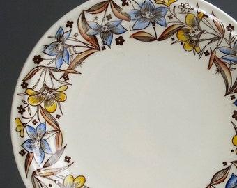 Vintage Vernon Kilns Walt Disney Fantasia Bread Plate - 1940 Nutcracker Suite Mid Century Dinnerware Floral Border Animated Film Memorabilia