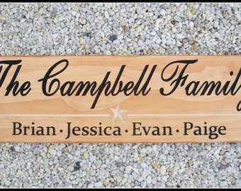 Custom Wood Signs, Carved Wood Signs, Last Name Signs, Engraved Wood Signs, Family Name Signs, Custom Sign, Wood Name Signs, Wood signs