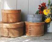 4 Antique Primitive Shaker Style Pantry Boxes