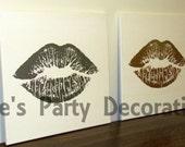20 x 20 Lips Canvas