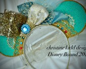 Ready to Ship Disney Bound Couture Aladin/Jasmine inspired statement piece mouse ears, a CKD exclusive limited edition Summer 2016
