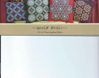 PATTERN - Primitive Folk Art Wool Applique Pillow: WOOLEN NICKELS (Designer-Shawn Williams)