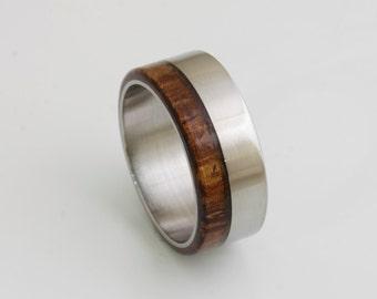 Man wood wedding ring Parota wood band woman mans wedding ring