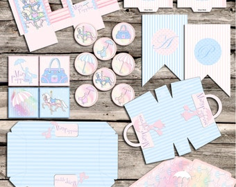 Mary Poppins Party Printable Set - Printable - Digital File - INSTANT DOWNLOAD