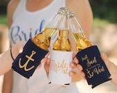 Bachelorette Party Favors - Last Sail Before the Veil Can Cooler Package, Last Sail Before the Veil  + Bride Can Coolers, Bachelorette Ideas