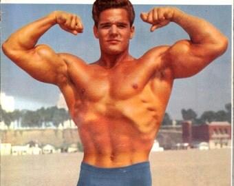 Vintage 1957 Muscle Builder - Men's Body Builder Magazine - Complete