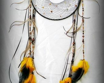 Goddess of Life Baltic Amber Gemstone Dreamcatcher