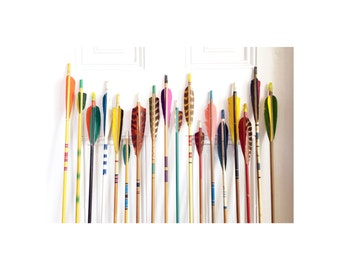 Vintage Wood Arrows / Set of 5