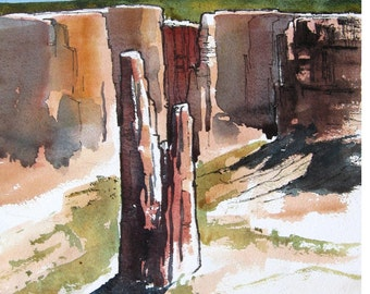 Spider Rock II - Original Watercolor painting