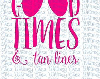 Beach SVG, Good Times and Tan Lines SVG Set of 4, Summer Time Svg, Beach Cover Up, 4 Sunglasses Svg, Heart Sunglasses, Striped Sunglasses