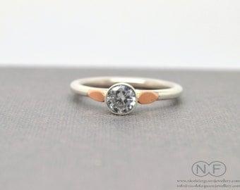 Solitaire Cubic Zirconia Ring