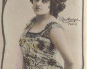Mlle. Thompson, Stage Performer, Bookmark Sized Postcard by Leopold Reutlinger, circa 1905
