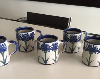 Louisville Kentucky Stoneware Art Pottery Co.  Mugs Total of FIVE By Gatormom13