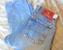 90s Lucky Brand 71 Dungarees High Waisted Tapered Mom Jeans button down zip size 13 (US 4/5)