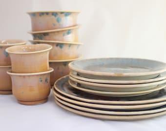 Dinner Plates, Set of 4 - Prussian Crystalline