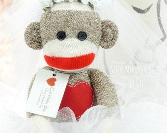 Bride Sock Monkey Doll