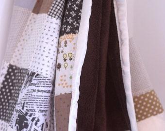 Chocolat Brown Baby Blanket - Patchwork Blanket