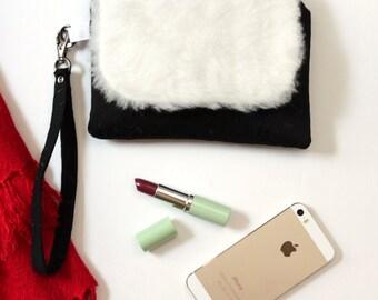 Evening Bag - Evening Wrist Wallet - Minimalist Bag - Zipper Pouch - Phone Purse - Cell Phone Clutch Purse - Smartphone Wristlet Wallet