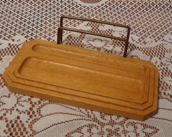 Vintage Men's Wood Dresser Valet  -  Solid Wood Valet Tray  -  16-444