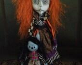 Shadow Ragdoll Art Doll OOAK LuLusApple