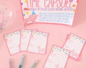 Time capsule birthday party pack printable party game first birthday party circus animal cookie theme