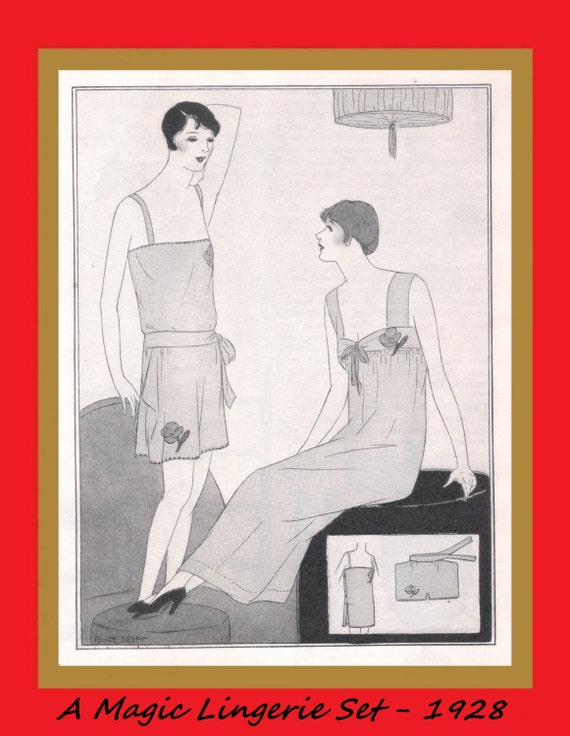 1920s Patterns – Vintage, Reproduction Sewing Patterns Vintage 1920s Lingerie Instructions - Womans Camisole Vest Panties and Nightgown - Reproduction Tutorial Pattern - .pdf Download $2.00 AT vintagedancer.com