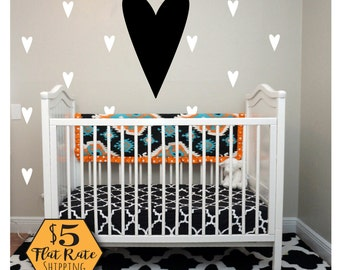 BIG HEART Wall Decal / heart decal, gold heart wall decal, heart wall decor, wall stickers for girls, wall decals for bedroom, baby decal