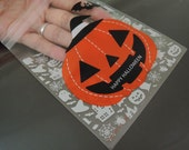 Halloween Bag 10cm x 10cm - Happy Halloween Pumpkin Cookie Bags Candy Bag Self Adhesive Plastic Bags Gift Packaging Party Favor Bags