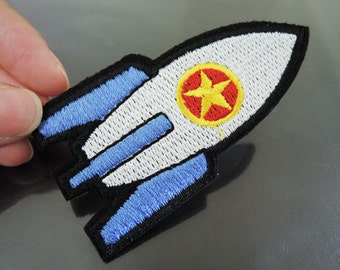 Iron On Patch - Rocket Patches Projectile patch Applique embroidered patch Sew On Patch