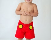 Boys Mickey Swim Shorts AND Rash guard shirt