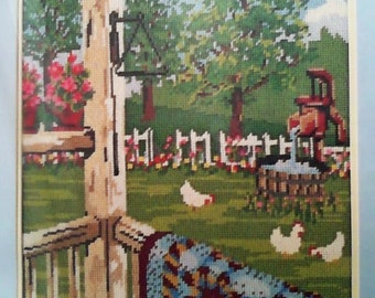 Something Special Needlepoint Quilt Porch Picture No.30439 12x16 Kit