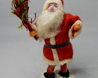 "Chenille & Paper Maché SANTA Christmas 4"""