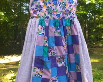 Summer Sweet Pea Dress > Patchwork > Little Girl 7-9