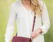 Monogrammed Crossbody Purse - Wine, Taupe, Camel, Black - Monogrammed Bag - Personalized Purse