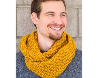 Chunky infinity scarf in Gold | Ready to Ship