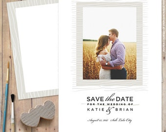 Save-The-Date-Magnet, Save-The-Date-Postcard, Save The Date Card - Topography